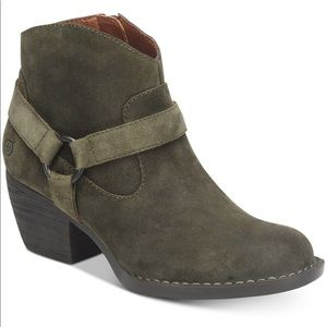 Born Harness Boho Western Distressed Suede Boot